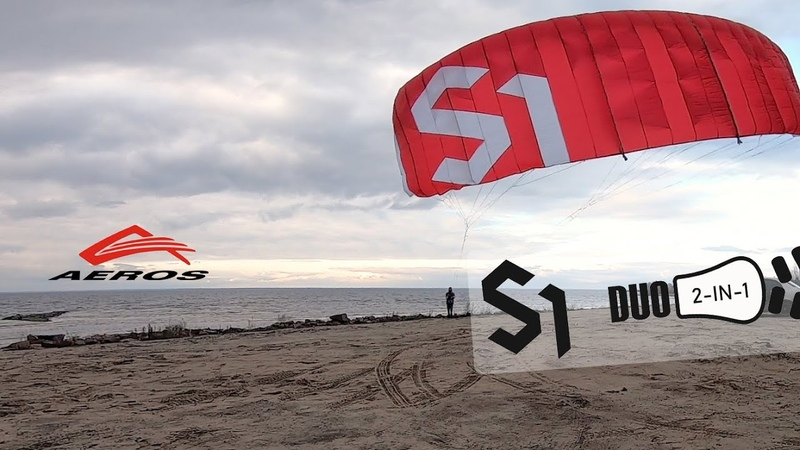 Aeros S1 Duo First ever single skin kite with changeable sizes