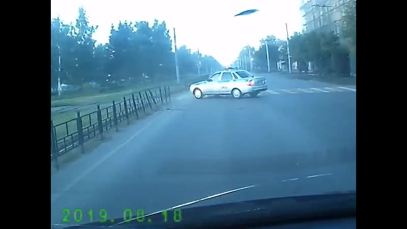 Авария во время погони 18 08 2019
