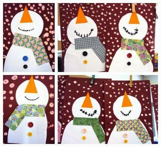 Зимние поделки. Снеговики. Идеи.