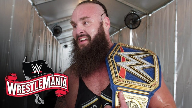 Braun Strowman takes in his Universal Title win at WrestleMania WWE Exclusive April 4 2020