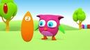 Dessin animé éducatif pour enfants de HopHop : un orange. Apprendre les couleurs en français