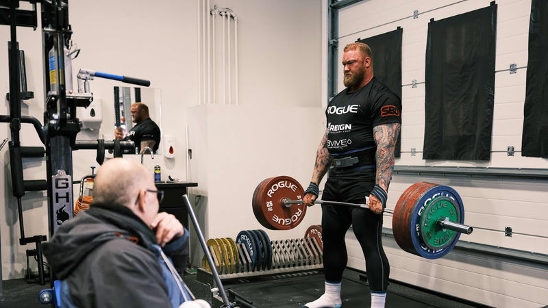 UNEXPECTED VISIT BY AN ICELANDIC LEGEND DEADLIFT SESSION