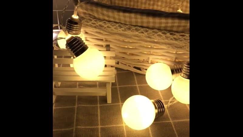 G45 светодиодный шаровой светильник с батареей наружный