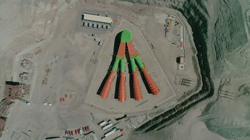 Codelcoensegundos Sistema de extracción de aire Chuquicamata Subterránea