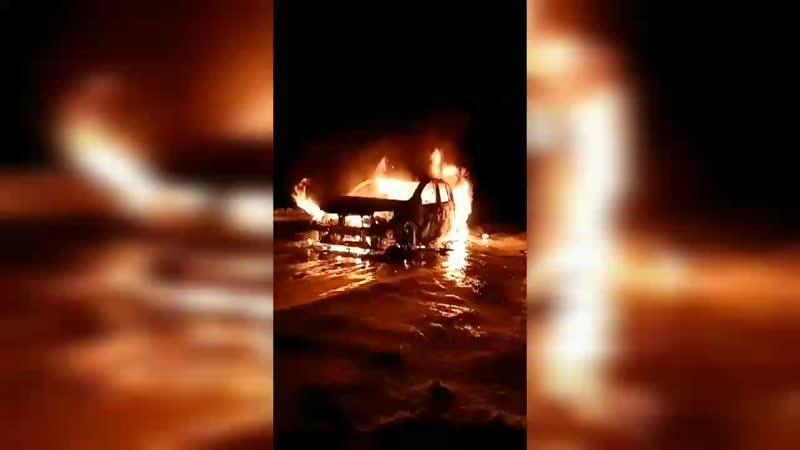 Происшествия. Мордовия. Сгоревшая машина в Явасе 24012020
