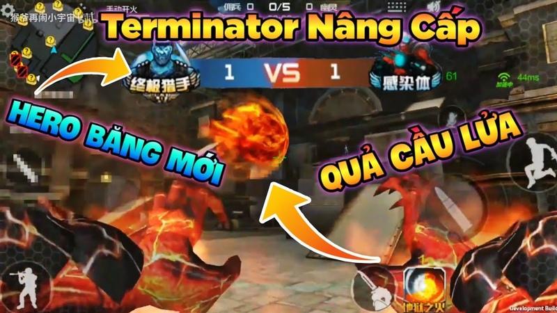 Cập Nhật Zombie Terminator Nâng Cấp Skill Quả Cầu Lửa Và Hero Băng Mới