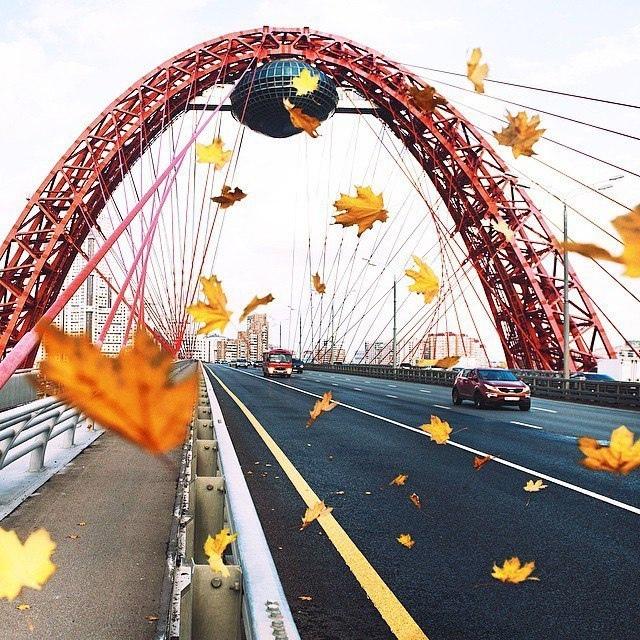 Осень на живописном мосту.