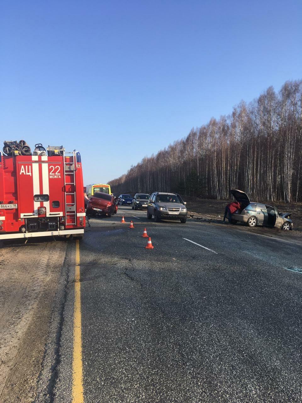 Крупное ДТП в Можгинском районе Авария произошла