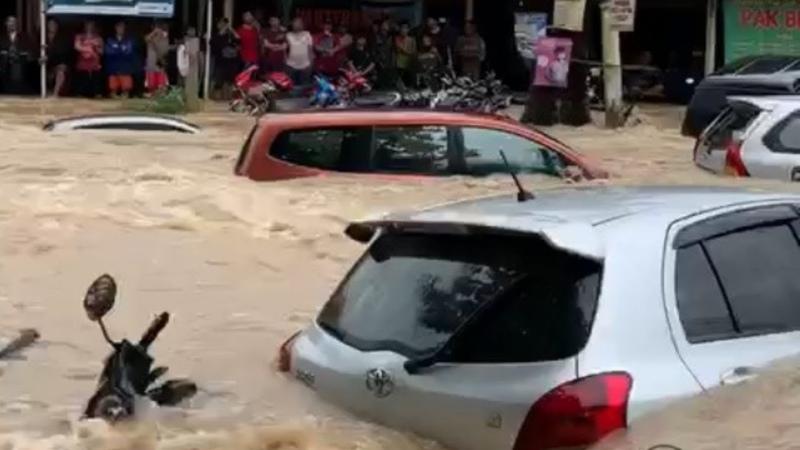 Severe Flooding inundate Jakarta Indonesia Jan 01 2020