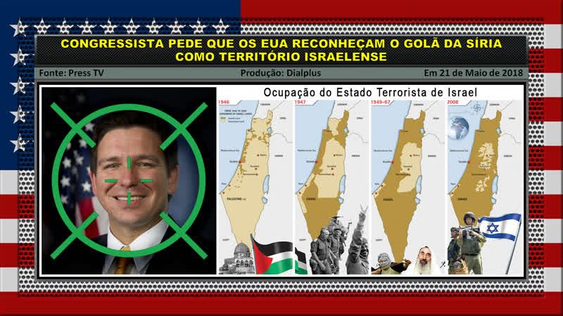 Congressista Ron DeSantis Pede que os EUA Reconheçam o Golã da Síria como Território Israelense
