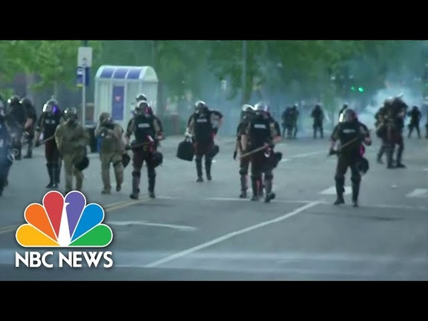 Minnesota National Guard And Police Clash With Protesters NBC Nightly News