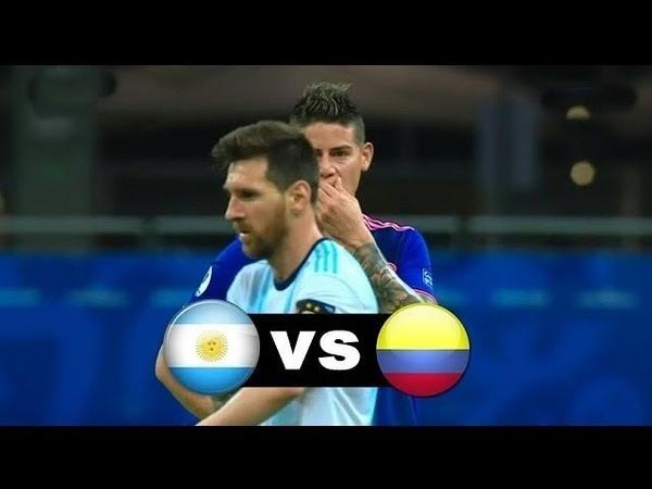 Аргентина - Колумбия Обзор матча 16062019 - Кубок Америки