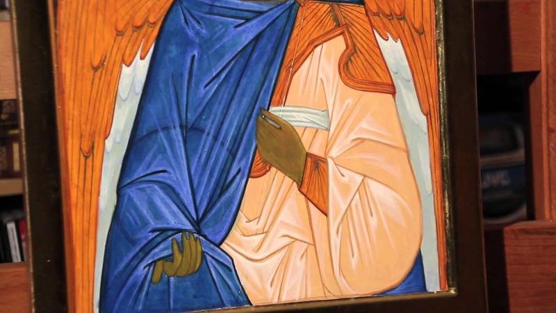 7 2 Icone d'un Ange la tunique et les clairs