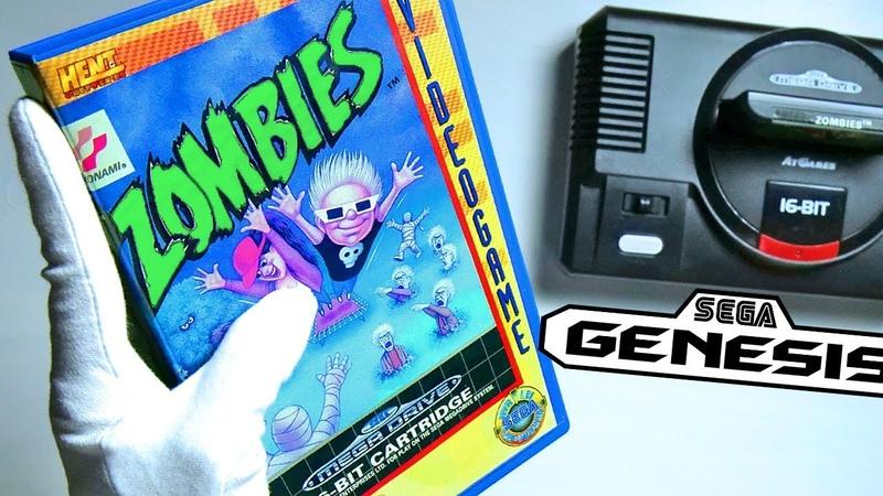 ZOMBIES ON SEGA GENESIS Unboxing Mega Drive Flashback Retro HD Console