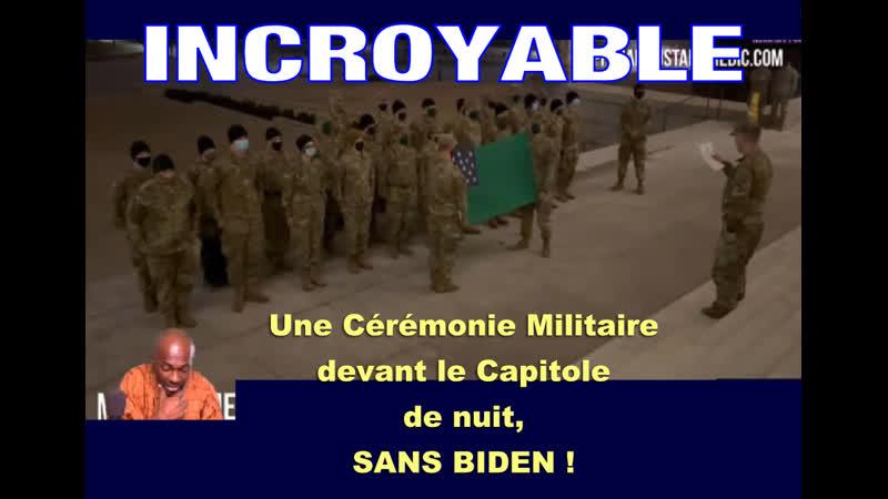Best of Mohame Diallo Cérémonie militaire de nuit au Capitol sans médias et sans Biden