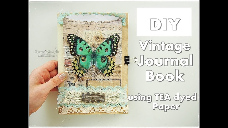 DIY Vintage Journal Book No Cost using Tea Dyed Papers ♡ Maremis Small Art ♡