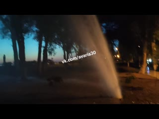 Открытие фонтана на Комсомольской Набережной