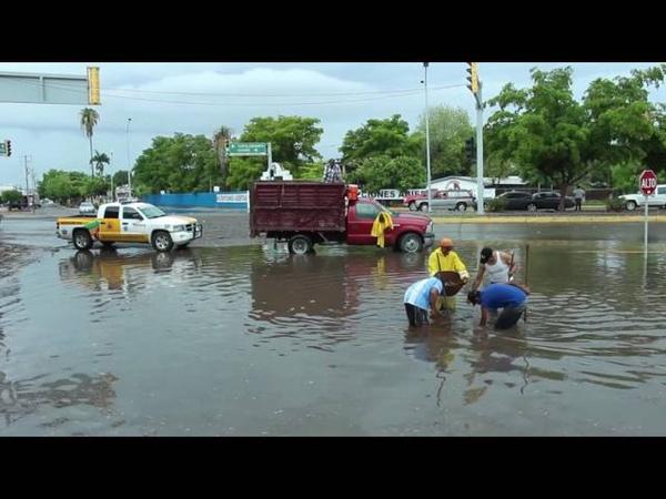 Así luce Los Mochis después de la lluvia