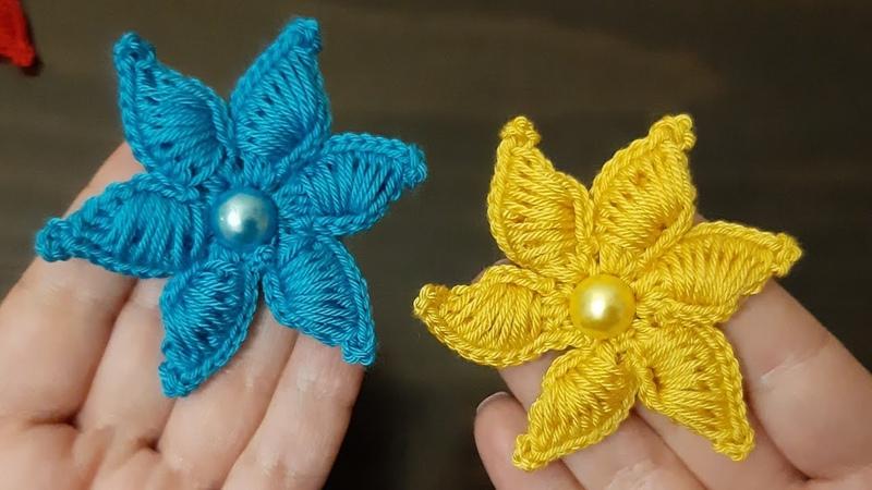 3d Deniz yıldızı yapıyoruz örgüsüsleme 3dörgüçiçek