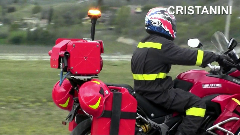 CRISTANINI FIRE STOP MOTORCYCLE UP 1626 SYSTEM FOR FIRST FIRE FIGHTING ATTACK WITH WATER MIST