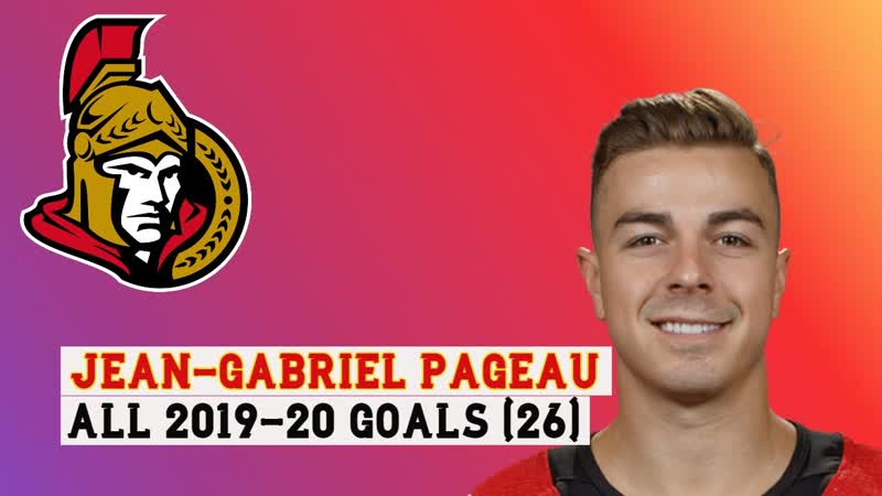 Jean Gabriel Pageau 26 Goals 19 20