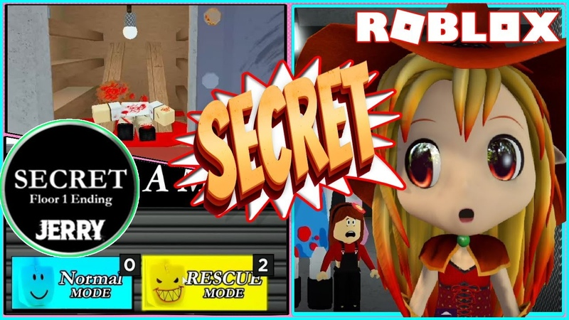 🍦 RESCUE MODE and HOW TO GET SECRET ENDING FLOOR 1! ROBLOX JERRY!