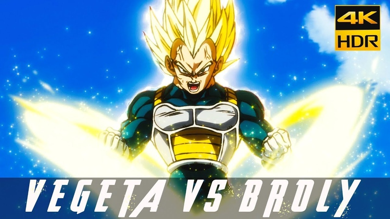 Vegeta Vs Broly in 4K UHD