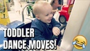 Toddler Tries To Impress Girl With Dance Moves! Cute Baby Dance Video!