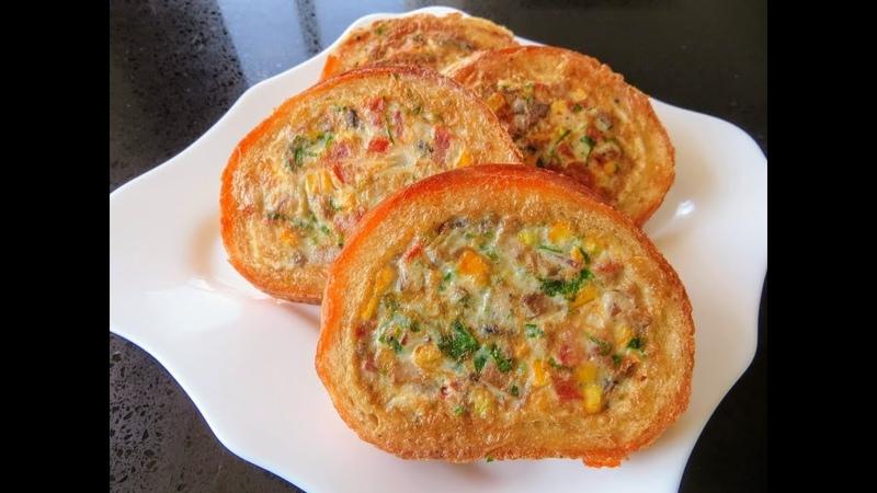Просто спрячьте начинку внутрь Фаршированные гренки на завтрак Быстрый завтрак