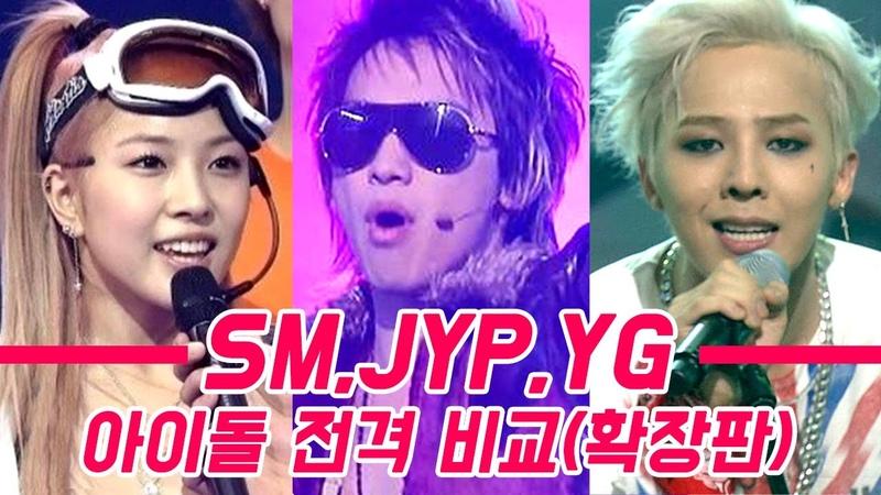 3대 소속사(SM,JYP,YG)아이돌 전격 비교(확장판)
