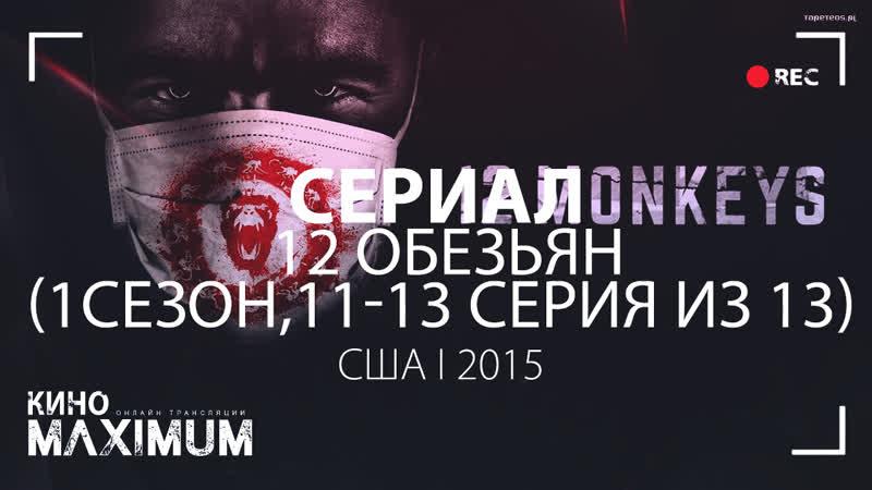 Кино 12 обезьян (1 сезон, 11-13 серия из 13) 2015 MaximuM
