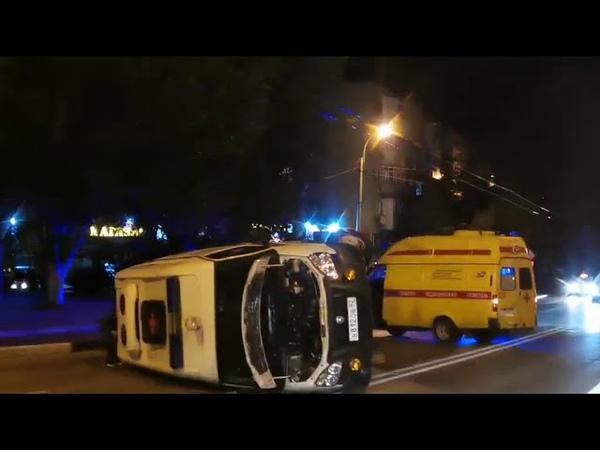 В Керчи в ДТП попала Скорая помощь Видео предоставлено очевидцами последствий аварии
