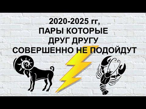 2020 2025 гг ПАРЫ КОТОРЫЕ СОВЕРШЕННО НЕ ПОДОЙДУТ ДРУГ ДРУГУ