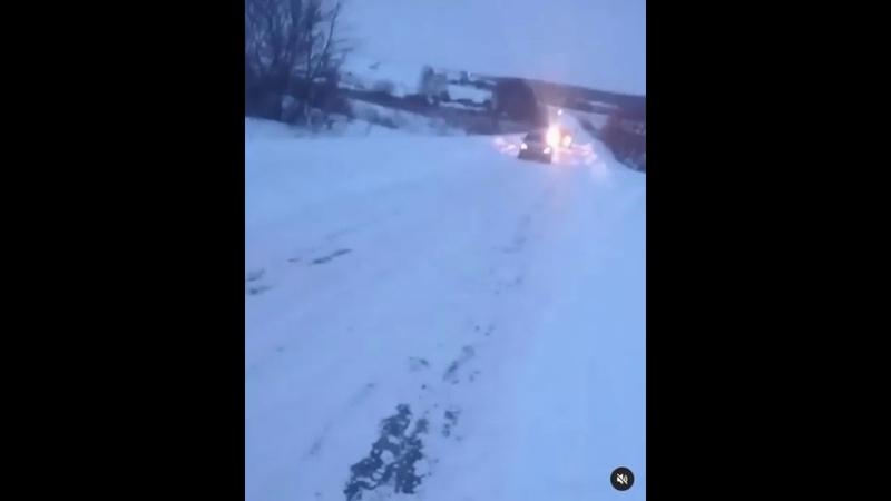 Ледяная дорога в Пензенской области