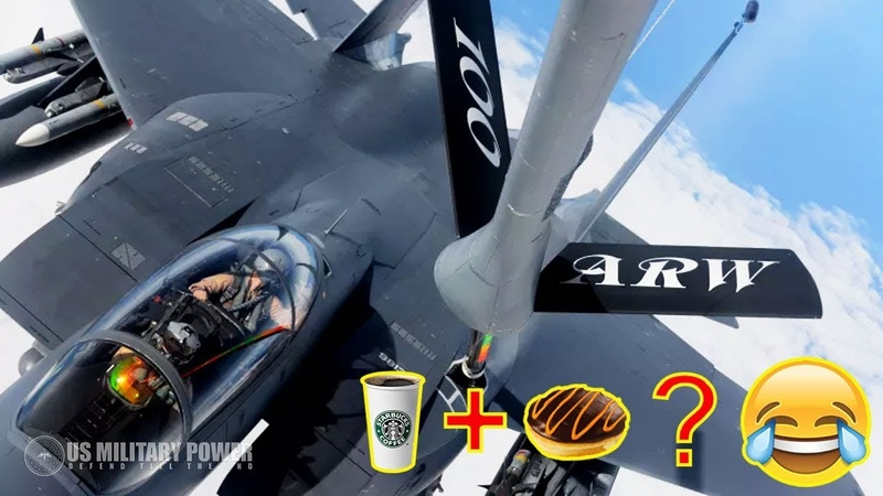 Funny Video of F-15 Pilot and KC-10, Request Coffee and Donut During Aerial Refueling