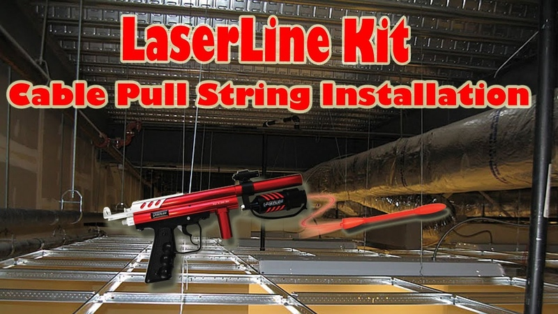 LaserLine Pull String Installation Tool Kit for cabling Unboxing and Demo