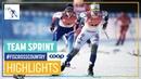 Sweden pips Swizerland for the win | Women's TSP | Dresden | FIS Cross Country