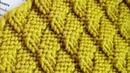 Новый эффектный теневой узор а ля гофре 🎄 knitting pattern.