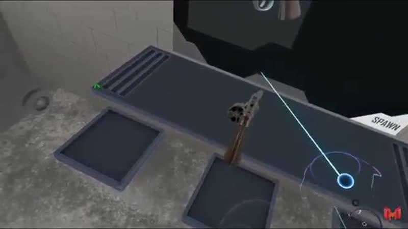 Мармок играет в русскую рулетку с револьвером Мармок пробует виртуальную реальность
